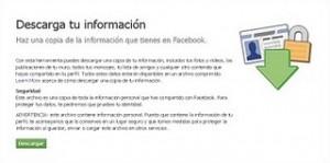 Descargar Informacion de Facebook